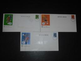 FRANCE LOT SPECIMEN 3 PAP FRANCE 98 - SPORT FOOTBALL SAINT ETIENNE MONTPELLIER LENS - - Specimen