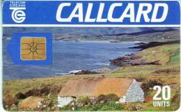 "Télécarte CALLCARD Telecom Eireann ""House  On Beach""  20Units Vide TTB Reste 3  Unités N° Lot :5098969 000204 - Irlanda"
