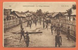 HA347, Le Village Debrimou, Animée, 128, S:C:O:A,  Circulée Sous Enveloppe - Côte-d'Ivoire