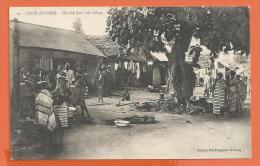 HA348, Marché Dans Un Village, Animée, 23,  Non Circulée - Côte-d'Ivoire