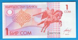 KYRGYZTAN - KIRGUISTAN   1 Som  ND  SC  P-4 - Kirguistán