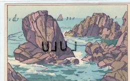 DEPT 44 : Le Croisic ,carte Dessin , La Grande Cote , Rochers Du Grand Autel - Le Croisic