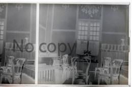 Indochine  Vietnam 1930 - Hanoï - Intérieur De Maison Colonial - Colonial House - Stereo Sur Verre - Stereoview On Glass - Glass Slides