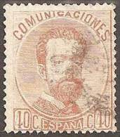 ESPAÑA 1872 - Edifil #125 - VFU - 1872-73 Reino: Amadeo I