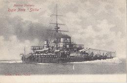 Bâteaux - Marine De Guerre - Italie - Regia Nave Sicilia - Guerra