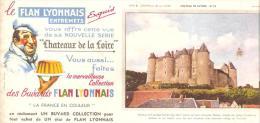 BUVARD FLAN LYONNAIS ENTREMETS CHATEAU LOIRE LUYNES (bordure Abimée,un Pli) - Alimentare