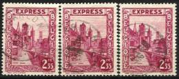"""Belgique - N013 - Expres - N°292D 3ex. Gand-Gent   Obl. ARLON Curiosité """"fils Téléphoniques"""" - Other"""