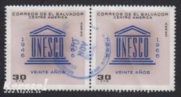 1966 - EL SALVADOR - Y&T 212 (Aériens) -  UNESCO - Salvador