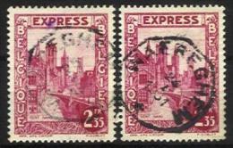 """Belgique - N016 - Expres - N°292D 2ex. Gand-Gent   Obl. WAEREGHEM Curiosité """"fils Téléphoniques"""" - Other"""