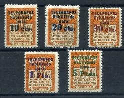 BARCELONA    Telegrafos  Nº  4 / 8  Centaje Bonito ( Sin Charnela )-73 - Barcelona