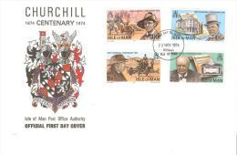 Carta Con Sellos Dechurcill  Isla De Man - Sir Winston Churchill