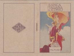 CALENDARIETTO  BANCA ITALIANA DI SCONTO FIRMA ALEARDO TERZI      1919 -2-0882-17391-390 - Petit Format : 1901-20