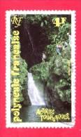 POLINESIA FRANCESE - 1992 - Usato  - Turismo - Attività Turistiche - Cascate - 4 F - Polinesia Francese