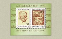 Hungary 1981. Béla Bartók Sheet MNH (**) Michel: Block 148A / 6.50 EUR - Ungarn