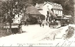 ~  25  ~  PLACE DU TRAMWAY A HERIMONCOURT  .      Cp Reproduction - France