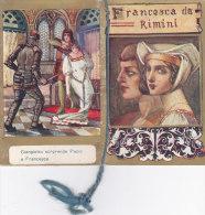 """CALENDARIETTO """"FRANCESCA DA RIMINI """"  PUBBLICITA' SCIROPPO GAUDINA   1932-2-0882-17405 -404 - Calendriers"""
