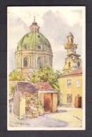 131136 /  Illustrator Hofecker - Wien 4 Wieden Künstlerkarte - Karlskirche Mit Alten Hof B.K.W.I. Nr 793-4 - Chiese E Cattedrali