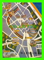 MAP - WARSZAWA, POLOGNE - CARTE GÉOGRAPHIQUE DE VARSOVIE - - Cartes Géographiques