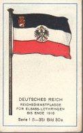 Fahnen / Flags - 01.030a - Deutsches Reich, Reichsdienstflagge Für Elsaß-Lothringen Bis Ende 1918 - Chromo