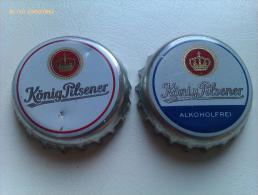 Lote 2 Chapas Kronkorken Caps Tappi Cerveza König Pilsener. Alemania. - Birra