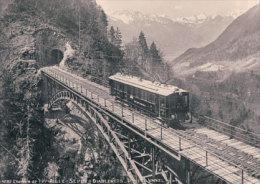 Chemin De Fer ASD, Train Viaduc Vanel Hiver 1941-42 Photo Retirage BVA ASD 94.8 - VD Vaud