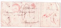 L. Càd BRAINE-LE-COMTE/1841 + Boîte G D'Ecaussines + DEBOURSE/MONS - 1830-1849 (Belgique Indépendante)