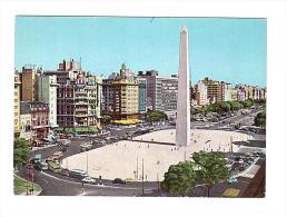 Y514 Buenos Aires - Obelisco Sobre La Avenida 9 De Julio - Auto Cars Voitures Bus / Non Viaggiata