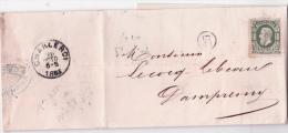 L. Affr. N°30 Resté Neuf De Charleroi 1883 Avec Arrivée + Cachet De Facteur - 1869-1883 Leopold II