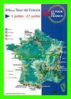 CYCLISME -  LE TOUR DE FRANCE 1997 - 84e TOUR - CARTE GÉOGRAPHIQUE - - Cycling