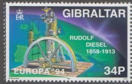 Rudolf Diesel,  Invention Of The Diesel Engine, Train, Locomotive, Railway, Transport,  MNH Gibraltar - Eisenbahnen