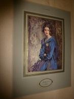 Gravure Ancienne En Couleurs , Sur Support Carton : Miss LILA  Par  I. Cohen - Old Paper