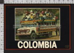 S6537 COLOMBIA BUS DE ESCALERA LADDER BUS Scritta TRASPORTI AUTOMOTIVE - Colombia