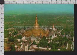 S6604 BURMA RANGOON THE GREAT SHWEDAGON PAGODA FROM THE AIR Scritta - Myanmar (Burma)
