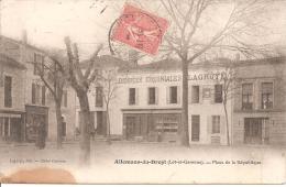 """ALLEMANS DU DROPT ,PLACE DE LA REPUBLIQUE ,""""DENREES COLONIALES LAGROYE""""  REF 33486 - France"""