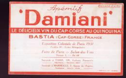 B856 - BUVARD  - Apéritif  DAMIANI - Le Délicieux Vin Du Cap-Corse Au Quinquina  BASTIA - Liqueur & Bière