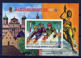 Äquatorial-Guinea Block 9         O  Used       (006) Olympiade 1972 München Kanuslalom - Guinée Equatoriale