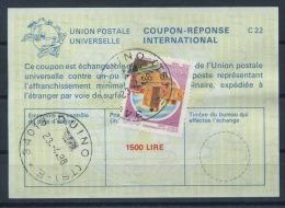 ITALIA / ITALIE  Reply Coupon Reponse Antwortschein IAS IRC La25A  1500 LIRE + Stamp 300 LIRE O DUINO 23.04.98 - Entiers Postaux
