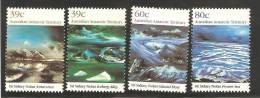 Australian Antarctic Territory 1989 Nolan Painting Of Ice Formations Set 4 MNH - Territoire Antarctique Australien (AAT)
