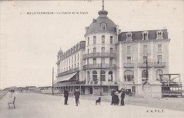 59 - Malo-Terminus - Le Casino Et La Digue (animée, Rare) - Malo Les Bains
