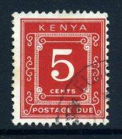 Kenya 1967 Postage Dues - 5c Scarlet (p. 14 X 13½) Used - Kenya (1963-...)