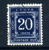 Kenya 1967 Postage Dues - 20c Blue (p. 14 X 13½) Used - Kenya (1963-...)