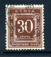 Kenya 1967 Postage Dues - 30c Brown (p. 14 X 13½) Used - Kenya (1963-...)