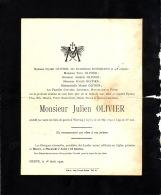 WERVICQ HERVE  Julien OLIVIER époux Catherine HOUGRAND 1901-1940  Faire-part De Décès - Esquela
