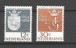 Nederland 1964 Armoires Universite De Groningen  NVPH 816/7 Yvert 796/7 MNH ** - 1949-1980 (Juliana)