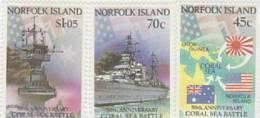 Norfolk Island-1992 50th Anniversary Coral See Battle  MNH - Norfolk Island