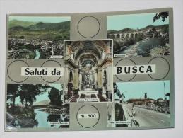 CUNEO - Saluti Da Busca - Cinque Vedute - Panorama Laghetto Roccolo Ponte Dei Cappuccini Chiesa Parrocchiale - 1967 - Cuneo