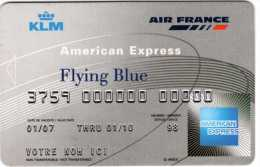KLM Air France Flying Bleu : American Express : Carton Pour Pub 2007 - Autres Collections
