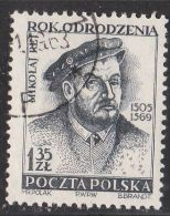 POLAND USED - 1953.11.10. Mikolaj Rej - Polish Renaissance Poet And Writer - Used Stamps