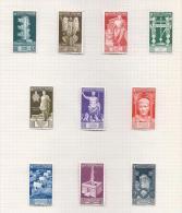 Italie Italia 1937 396/405* Auguste Cote 80 Euro - Nuevos