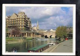 H1823 Pultnei Bridge And Weir From The Promenade Bath, Avon - Navi Ships Batuau - UK, England - Bath